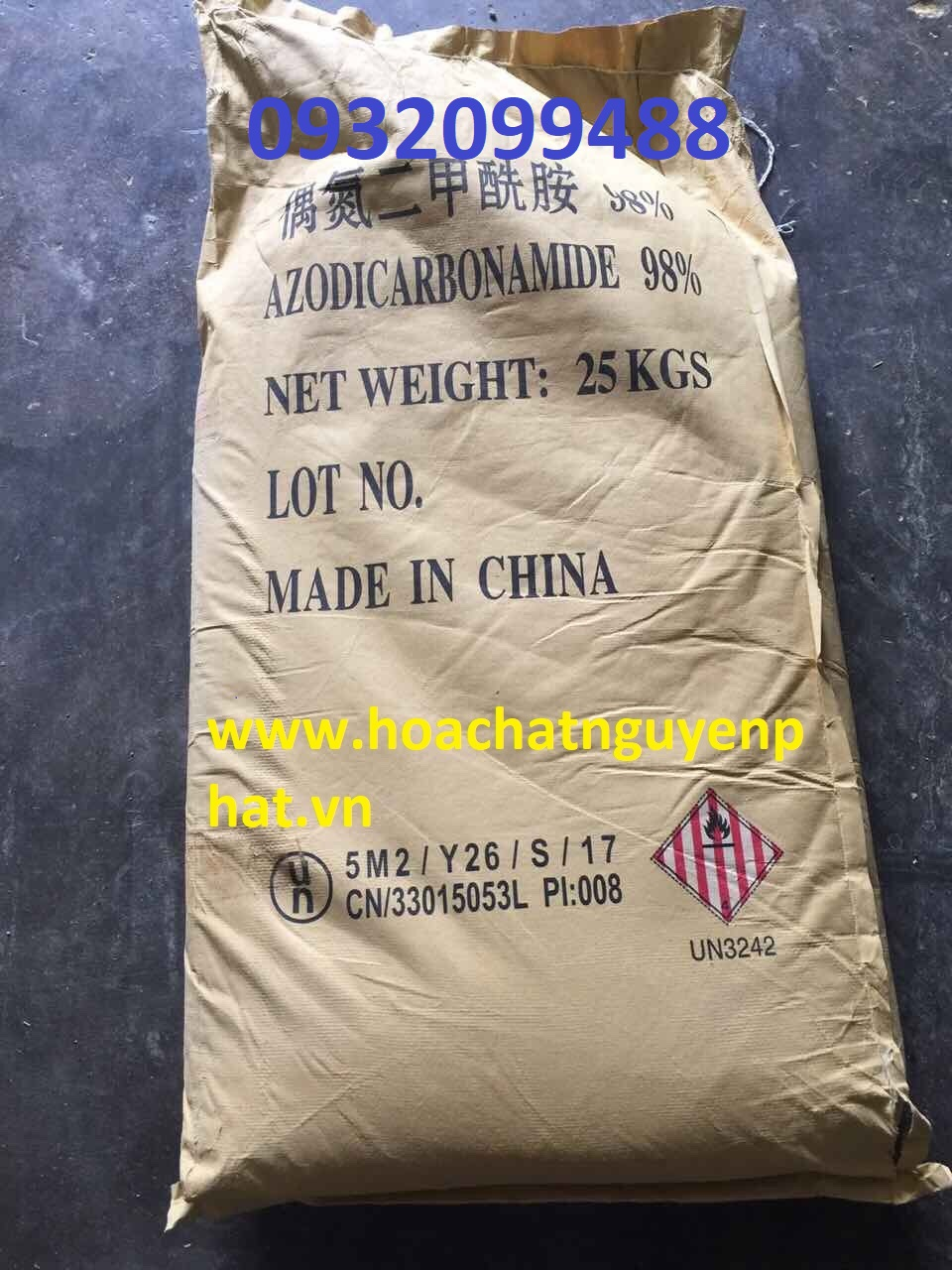 AZODICARBONAMIDE 98% bột nở